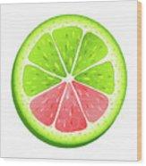 Mixed Lemon Wood Print