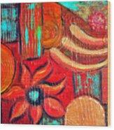 Mixed Media Abstract  Wood Print