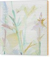 Mixed Stalks Morning Flowers Wood Print
