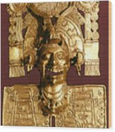 Mixtec: God Of The Dead Wood Print