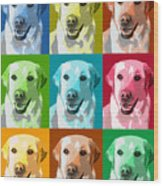 Golden Retriever Warhol Wood Print