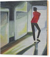 Mj One Of Five Number Three Wood Print by Patricia Arroyo