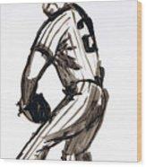 Mlb The Pitcher Wood Print