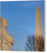 Mlk And Washington Monuments Wood Print