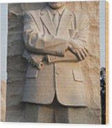 Mlk Memorial In Washington Dc Wood Print