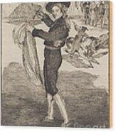 "Mlle. Victorine In The Costume Of An ""espada""(l'espada) Wood Print"