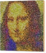Mm Candies Mona Lisa Wood Print