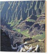 Mmm-119 Sacred Hawaiian Chieftans Resting Place Honopu Arch Wood Print