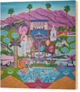 mmmm... Palm Springs Wood Print