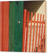 Mntrl Orange Gate 2  Wood Print