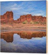 Moab Reflections Wood Print
