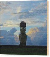 Moai Easter Island Rapa Nui Wood Print