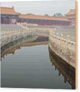 Moat Forbidden City Beijing Wood Print