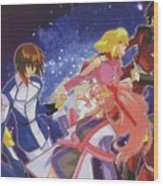 Mobile Suit Gundam Seed Destiny Wood Print
