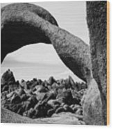Mobius Arch View Alabama Hills Wood Print