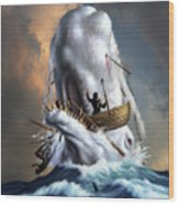 Moby Dick 1 Wood Print