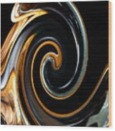 Mocha Swirl Wood Print