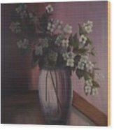 Mock Orange Blossoms Wood Print