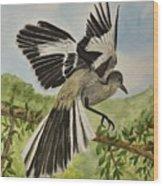 Mockingbird Landing Wood Print