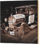 Model A Culver City Police Bw Wood Print