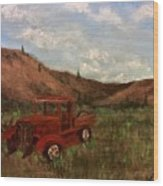 Model A Ghost Town Truck  Wood Print