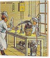 Model Kitchen, 1900s French Postcard Wood Print