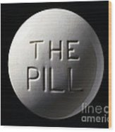 Model Of Contraceptive Pill, C.1970 Wood Print