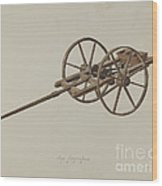 Model Potato Planter Wood Print