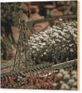 Model Railroad Windmill Wood Print