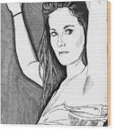 Model Shanna Wood Print
