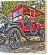 Model T Delivery Wood Print
