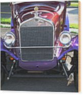 Model T Ford Front End 2 Wood Print