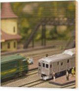 Model Trains Wood Print