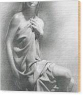Model Viii  Wood Print