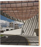 Modern Architecture Of Ismaili Centre Entrance With Aga Khan Mus Wood Print