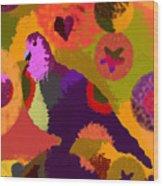 Modern Art Dove Wood Print