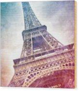 Modern-art Eiffel Tower 21 Wood Print