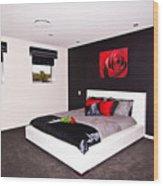 Modern Bedroom Wood Print