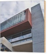 Modern Building Architecture Angles Wood Print