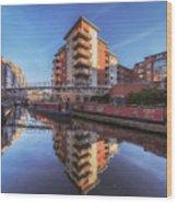 Modern Canal Living Wood Print