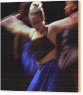 Modern Dance Motion Wood Print
