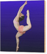 Modern Dancer  Wood Print