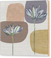 Modern Fall Floral 1- Art By Linda Woods Wood Print
