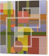 Modern Harmonious Abstract Wood Print