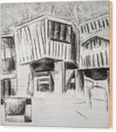 Modern Homes Wood Print