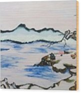 Modern Japanese Art In The Shadow Of The Past - Utsumi And Kano School Wood Print