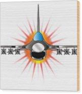 Modern Jet Fighter Wood Print