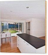 Modern Kitchen Wood Print