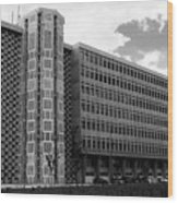 Modern Lisbon - The Palace Of Justice Wood Print