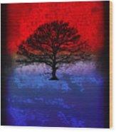 Modern Paintings Abstract Tree Wall Art Wood Print